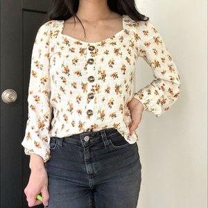 Floral long sleeve